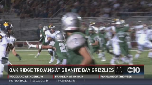 Oak Ridge Trojans at Granite Bay Grizzlies