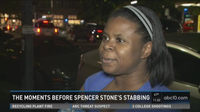 The moments before Spencer Stone's stabbing