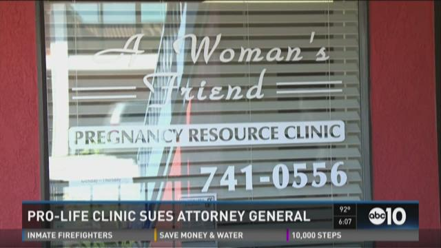 Pro-life clinic sues attorney general