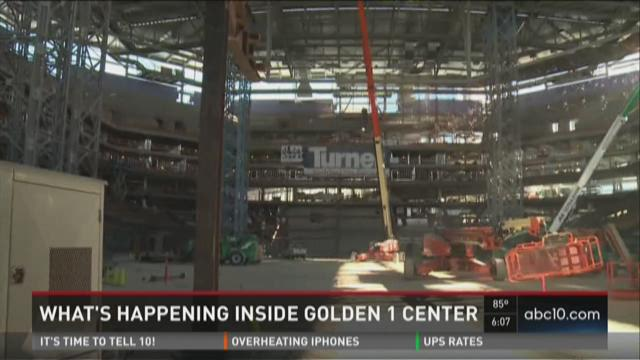 Golden 1 Center takes shape in downtown Sacramento