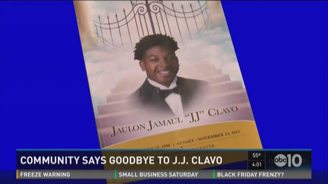 Community members mourn the death of Jaulon Clavo